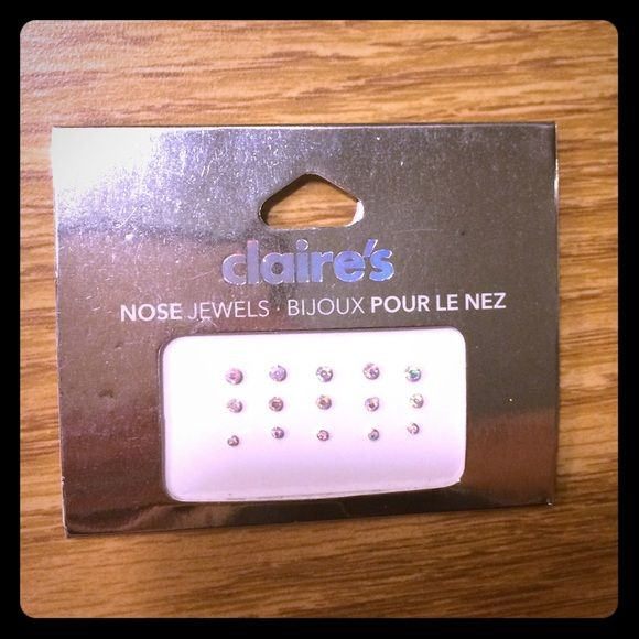 Temporary Fake Nose Piercing Jewels Nwt Fake Nose Nose Piercing Nose Jewels
