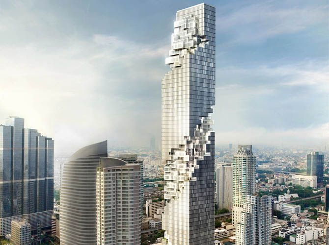 Modern Architecture Buildings Concept with Design ~ Futuristic ...