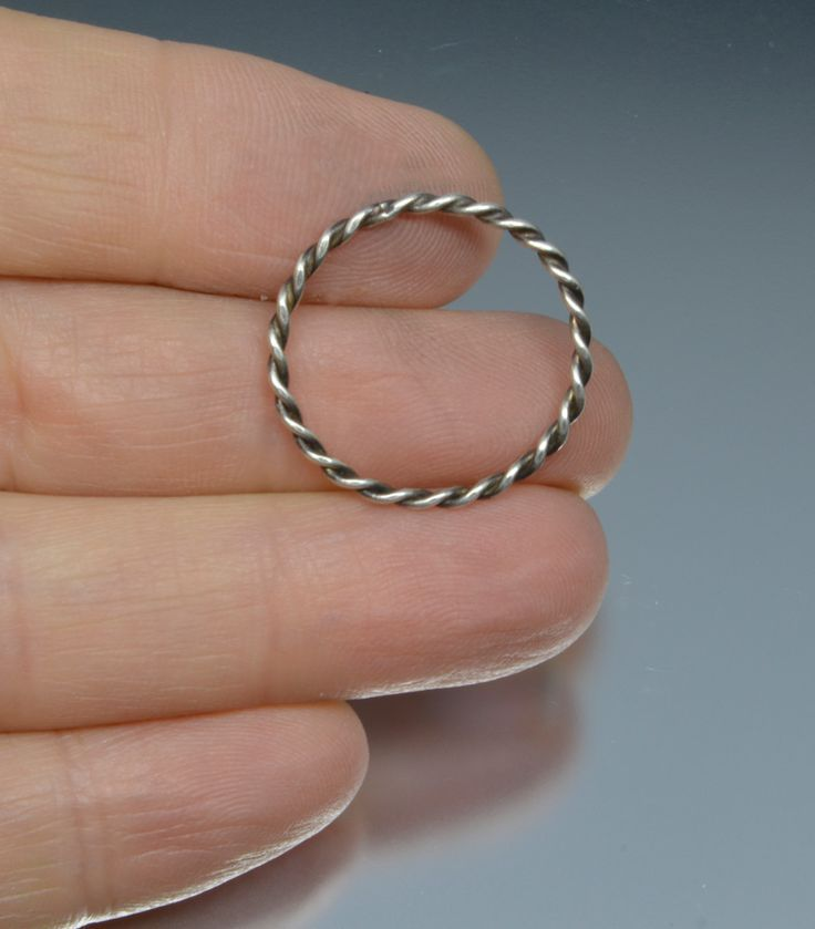 Twisted Sterling Silver Minimalist Stacker Ring