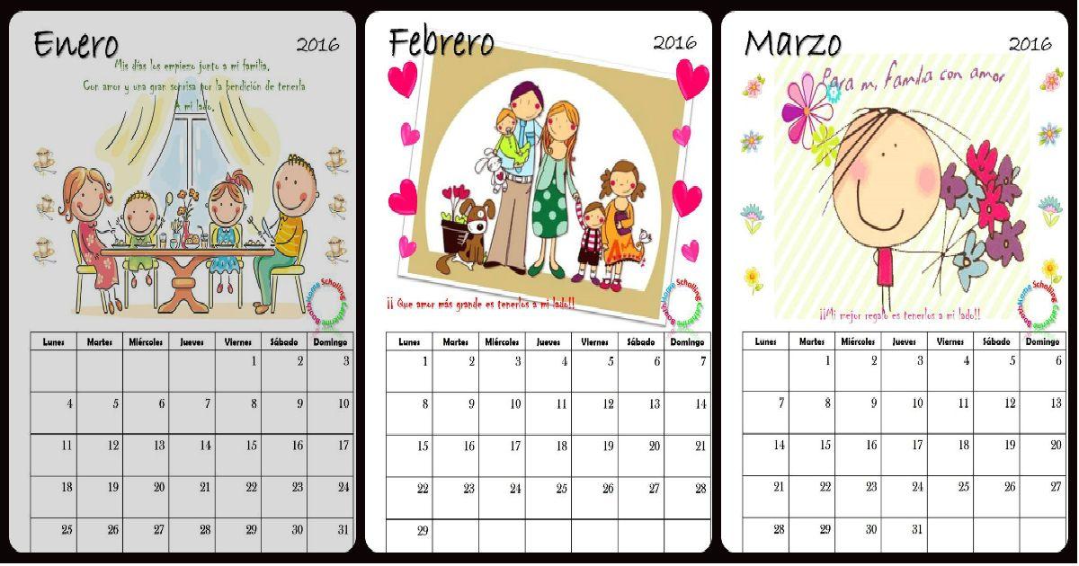Precioso Calendario 2016 para la escuela | Kind