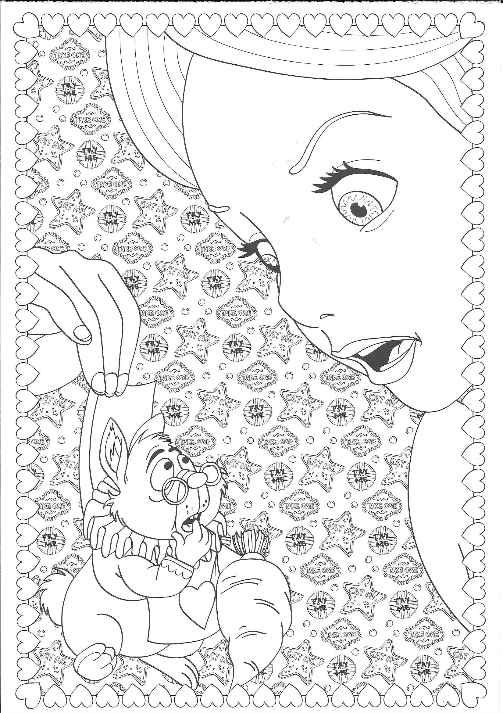 30 Disney Alice in Wonderland Coloring Pages Disney ideas  alice