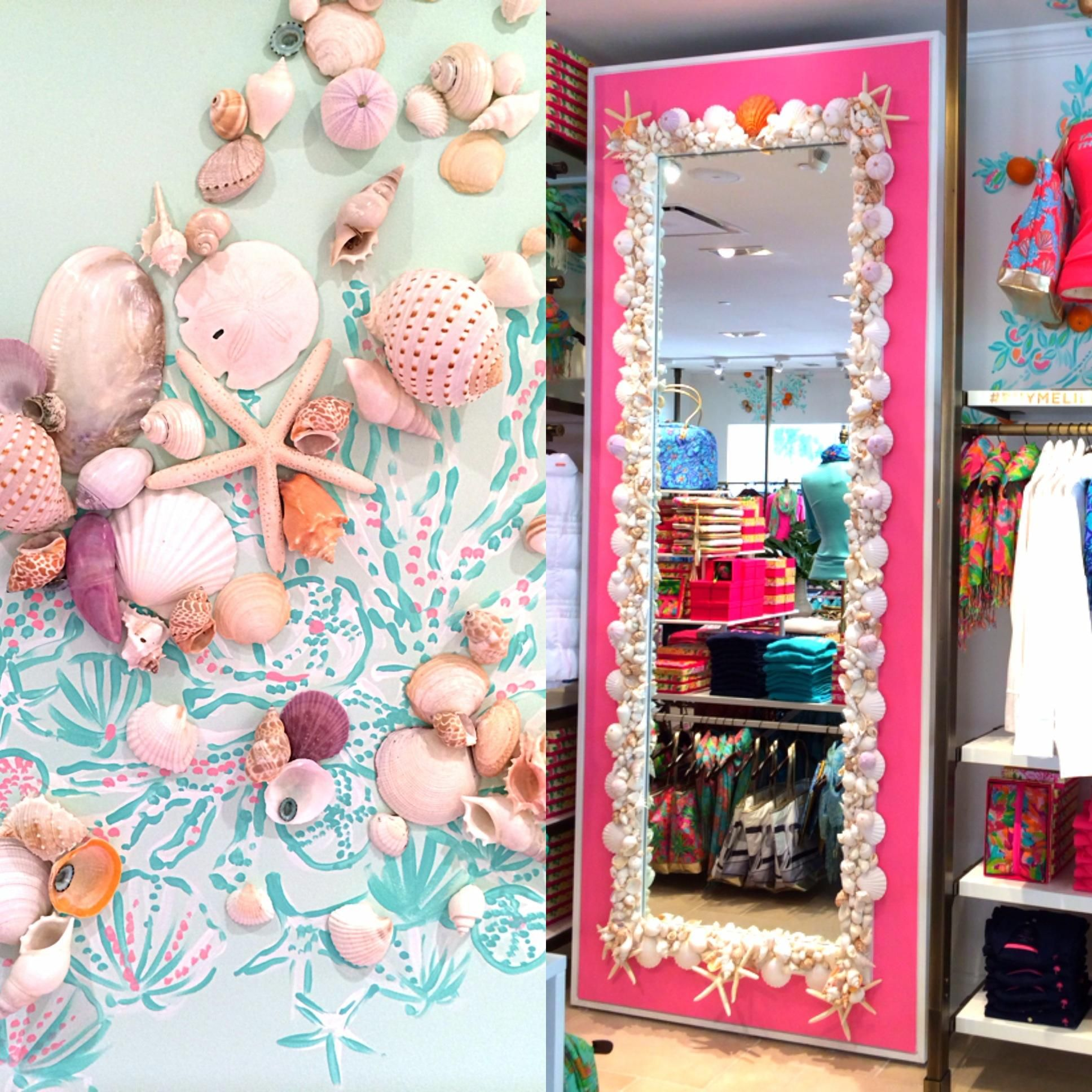 DIY Mirror   Inspiration: Shell Decor In Lilly Pulitzer Waterside In Naples