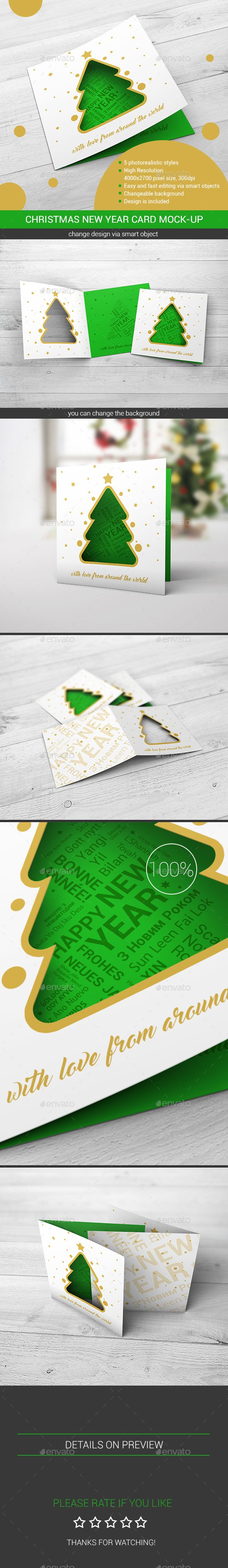 Print Mockup - Christmas New Year Card Mock-Up - Print Mockup by StreetD.  #Graphic #BlackFriday #Logo #UIUX #UserInterface #TuesdayMotivation #HappyTuesday #Vectors #PresentationTemplate#TuesdayFeeling #TuesdayThoughts #WebElements  #TuesdayWisdom #CyberMonday #DesignTemplate
