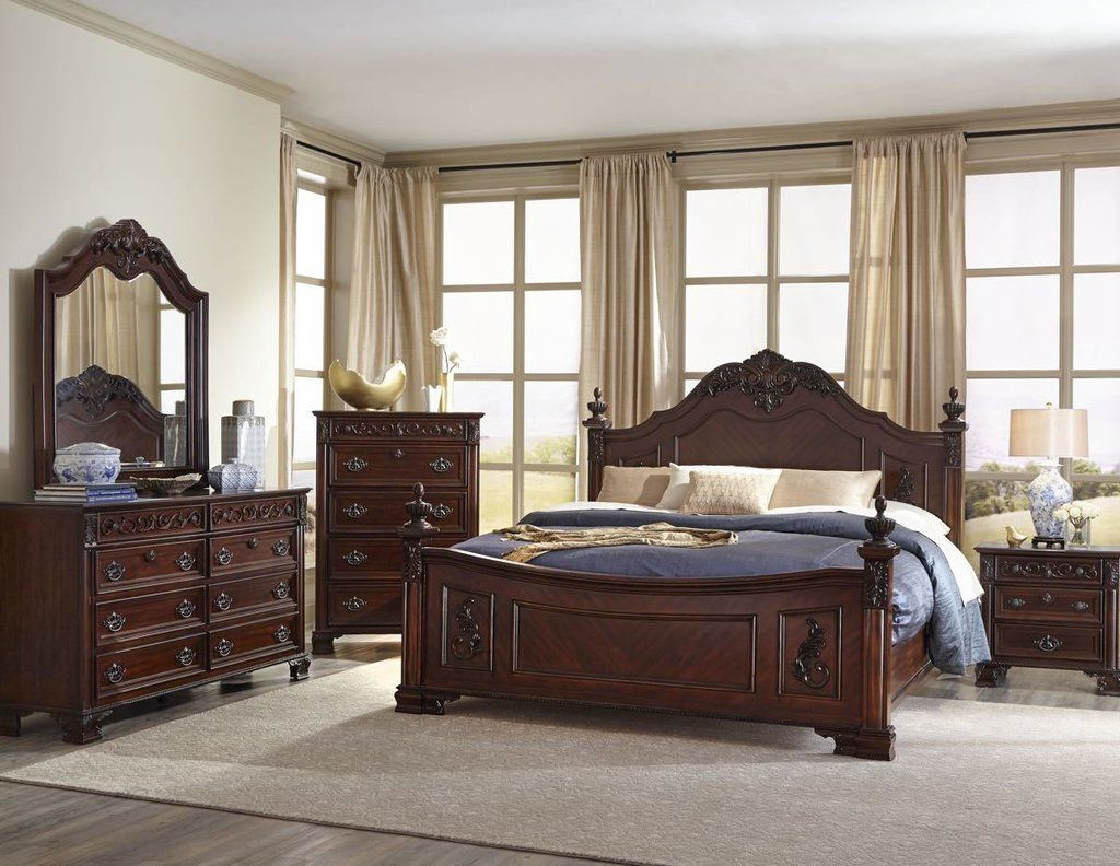 Mansion Cherry King Bedroom Set By Lifestyle Furniture Mansion - Lifestyle furniture bedroom sets
