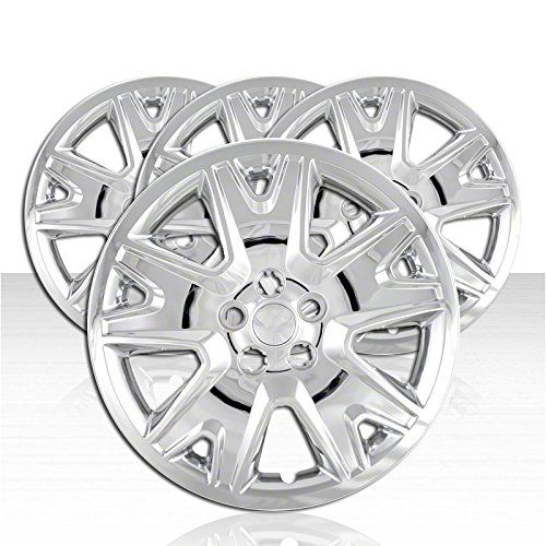 OxGord Hub-caps for 08-12 Chevrolet Malibu /(Pack of 4/) Wheel Covers 17 inch Snap On Silver