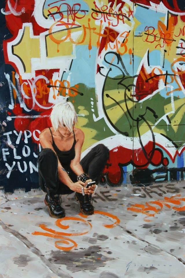 Girl with Graffiti - Vincent Giarrano