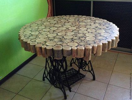 Мебель ручной работы. столешница из пеньков. Дмитрий Залётов изделия из дерева. Ярмарка Мастеров. Чайный столик, дерево