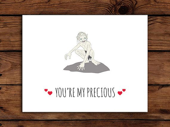 Lord Of The Rings Valentine Card Printable Gollum My Precious
