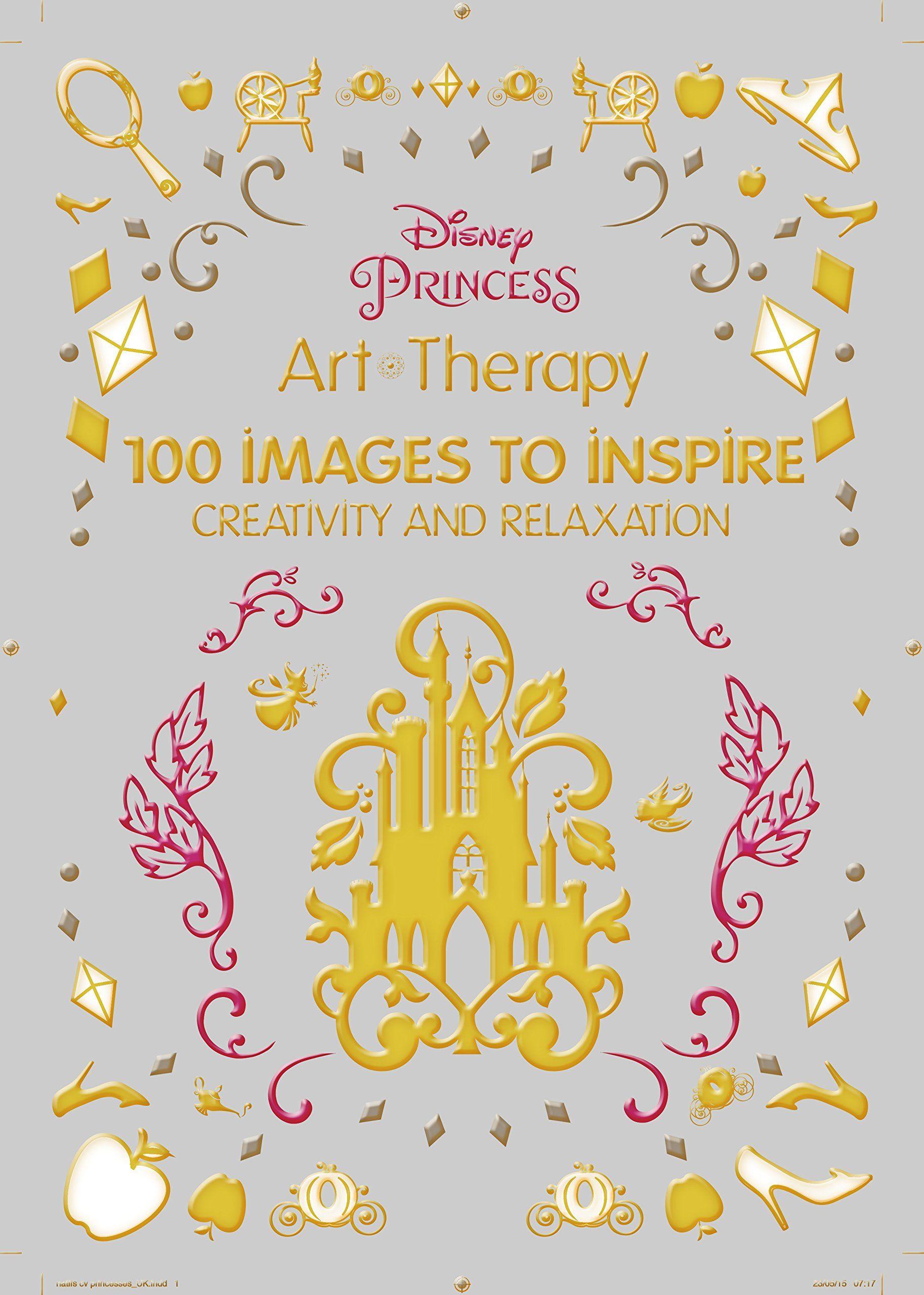 Co coloring book of princess - Art Therapy Disney Princess Amazon Co Uk Catherine Saunier Talec