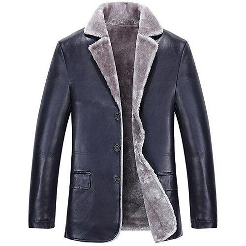 cappotti da uomo con maniche di ecopelle