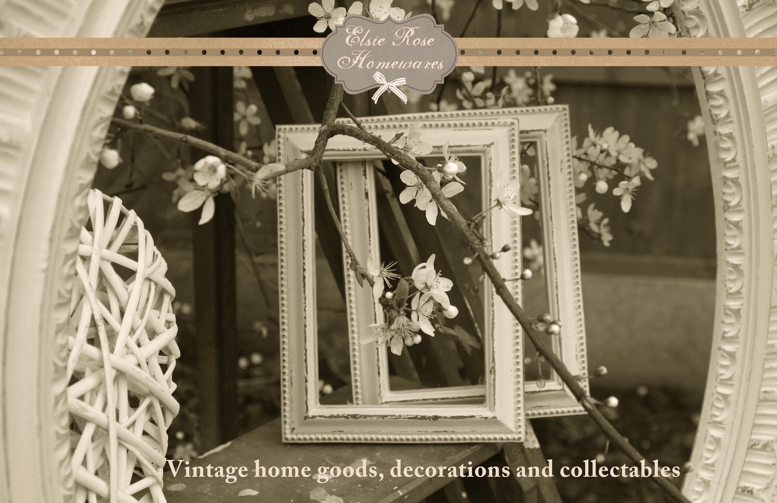Shabby-chic vintage picture frames - Elsie Rose Homewares