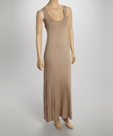 Look what I found on #zulily! Mocha Sleeveless Maxi Dress - Women #zulilyfinds