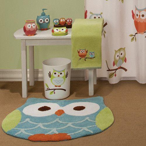 Beau Hooty Owl Bathroom Accessory Set Of 12 Shower Curtain Hooks