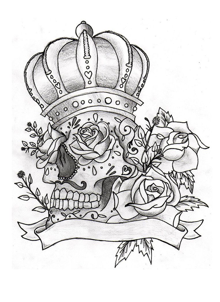 Pin by Megan Hardig on patch ideas | Skull coloring pages ...