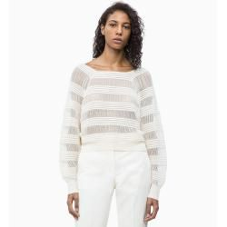 Photo of Outlet – Calvin Klein Gestreifter Strickpullover S Calvin KleinCalvin Klein