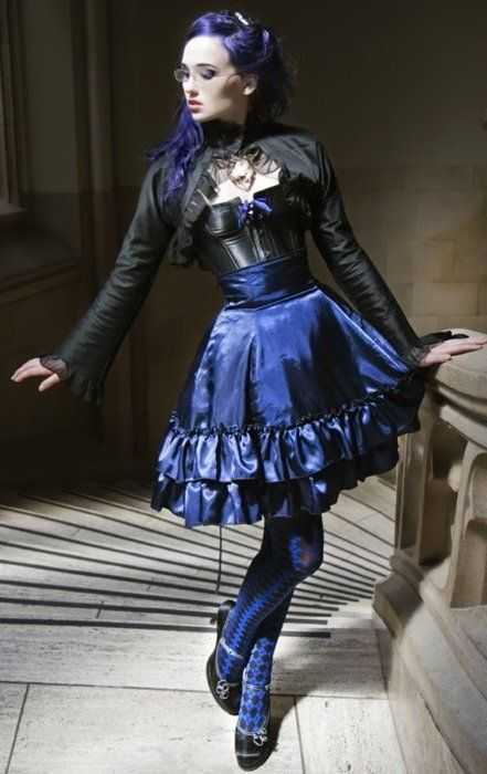 SteamPunk Goth. Like this outfit