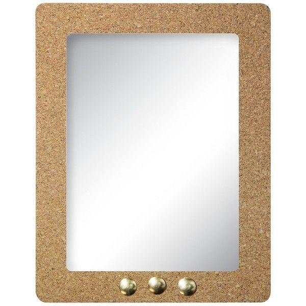 Locker Mirror: Locker Cork Framed Locker Mirror featuring polyvore, home, home decor, mirrors, wall cork board, wall mounted mirror, framed corkboard, colorful wall mirrors and colored wall mirrors