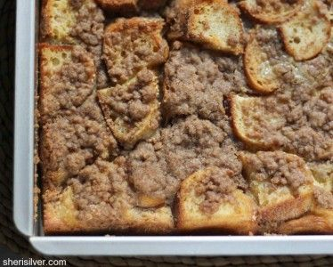 Cinnamon Streusel French ToastThis streusel-style French toast uses French bread, brown sugar and cinnamon.Get the Recipe: Cinnamon Streusel French Toast                                     via @AOL_Lifestyle Read more: http://m.aol.com/article/2015/11/30/14-fabulous-french-toast-recipes/21275051/?a_dgi=aolshare_pinterest#slide=3445788|fullscreen
