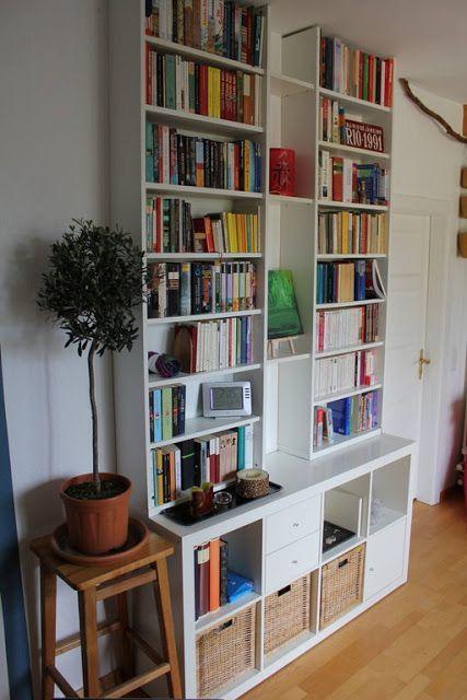 Kallax And Billys Stacked Home Home Decor Ikea Bookshelves