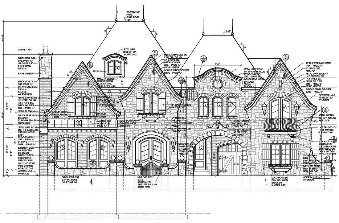 Floor Plans English Manor Vanbrouck Associates Elevation Drawing English Manor Luxury Floor Plans
