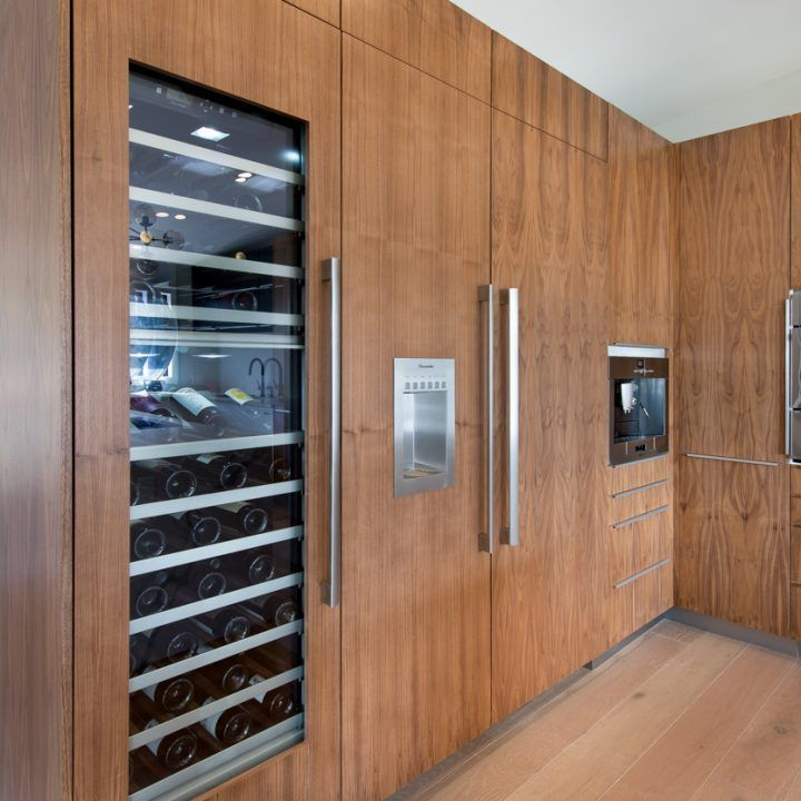 Awesome IKEA Custom Doors With Custom Panels Made For Wine Fridge And French Door  Refrigerator