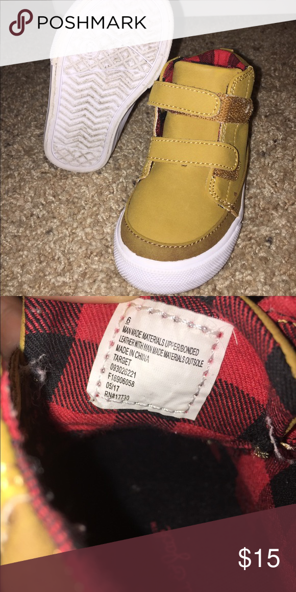 a4832f19c70e Size 6 Toddler Shoes - Target Brown Boots HighTops Gently used- Size 6  Toddler Boy Shoes - Target Brown Boots High Tops Target Shoes Boots