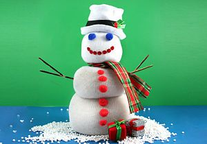 Create Holiday Snowmen out of Socks
