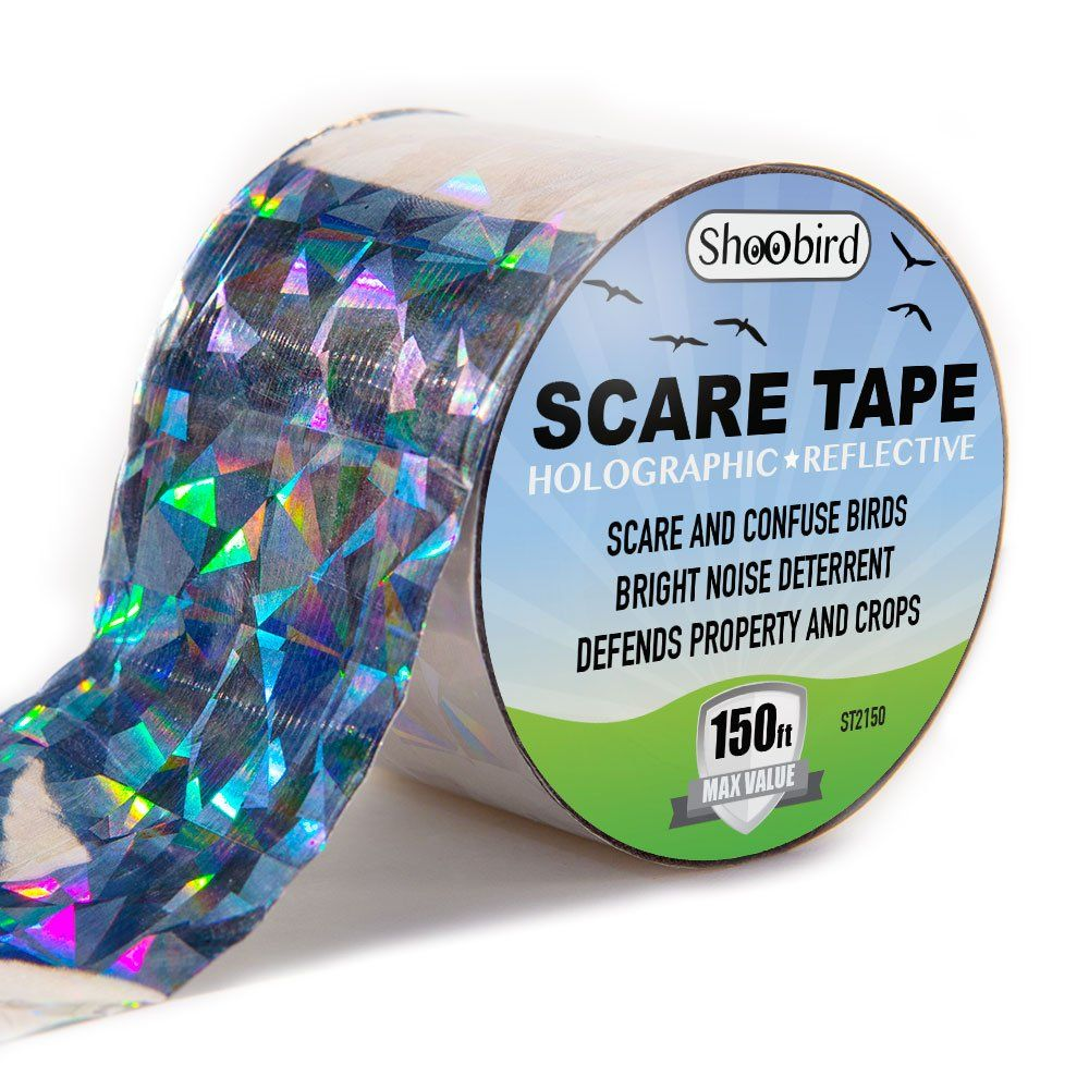 Bird Repellent Scare Tape Effective Deter And Control Durable Holographic Ribbon Birds Prevent Damage Easy To Use