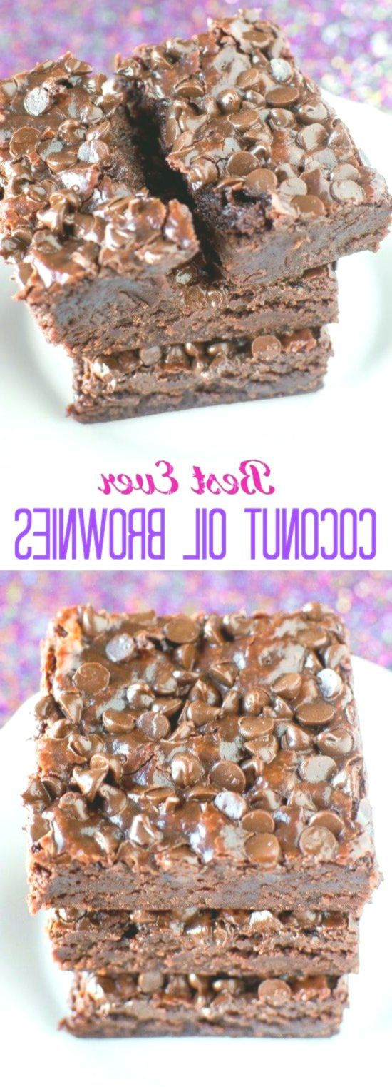 BEST Fudgy Coconut Oil Brownies - no eggs, no butter!, Fudgy Coconut Oil Brownies - no eggs, no butter!...