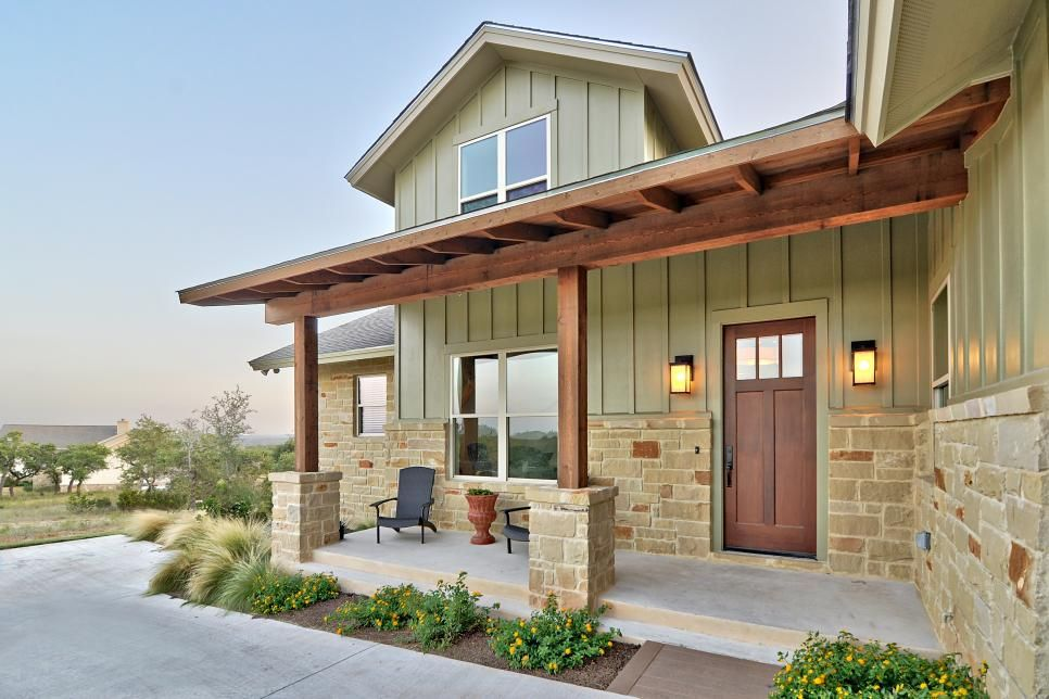 Contemporary Austin Texas Home Exteriors Green House Exterior Craftsman Farmhouse House Paint Exterior