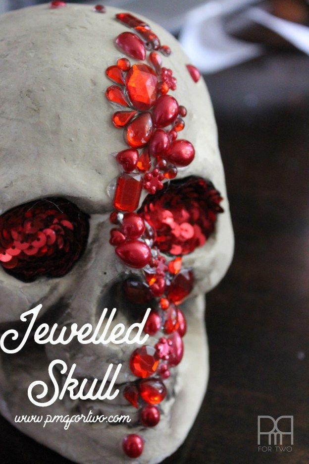 DIY Jewelled Skull Samhain/ Halloween Craft ideas Pinterest