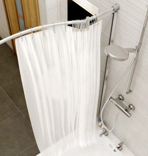 Kudos Inspire Over Bath Shower Panel With Shower Curtain Rail   Corner