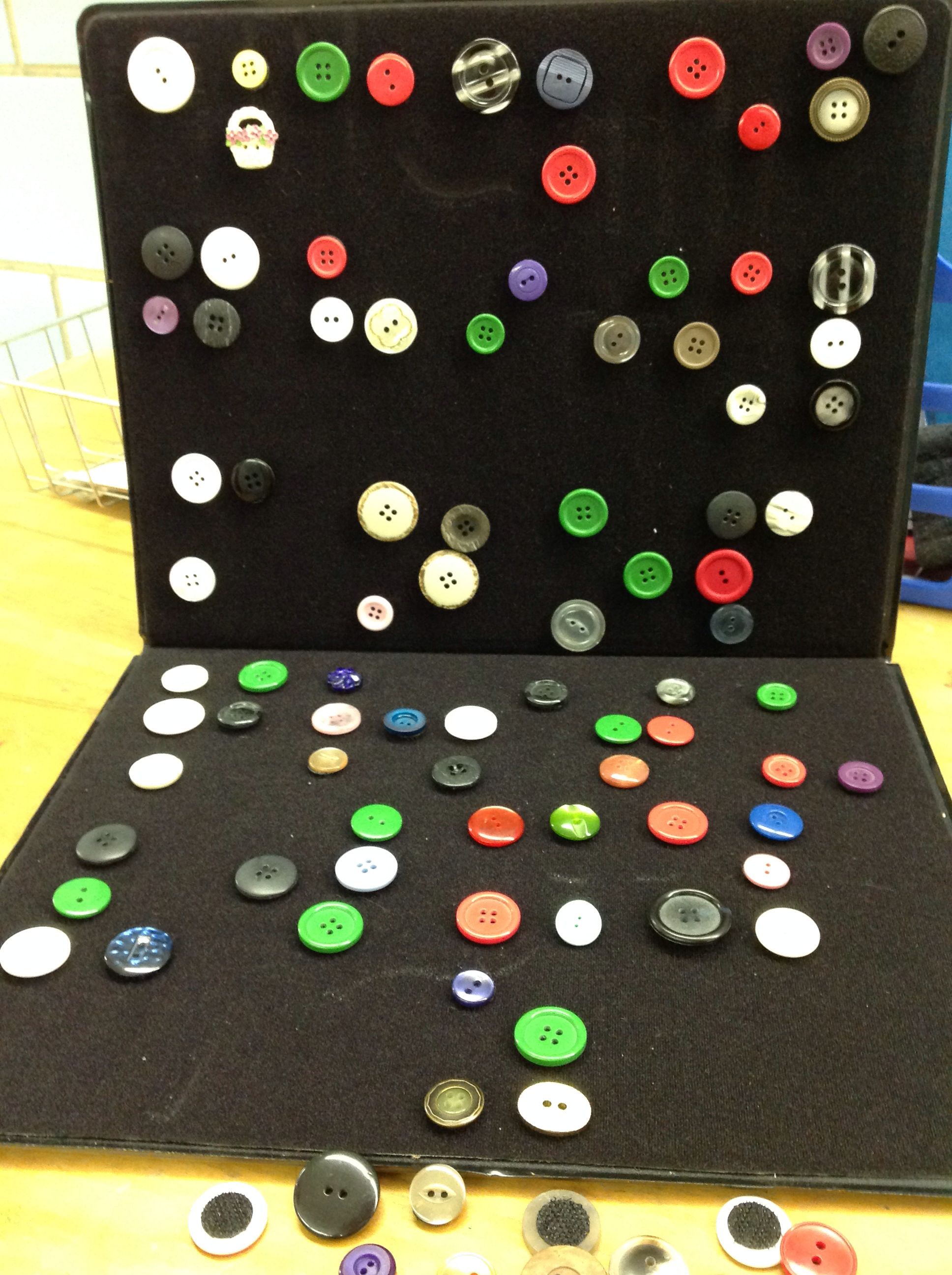 Buttons With Velcro To Create Braille Art Or To Create The Alphabet In Braille As Shown