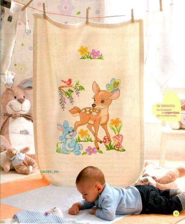 Bebek yatak örtüsü   etamin/kanaviçe/goblen/crossstich   Pinterest