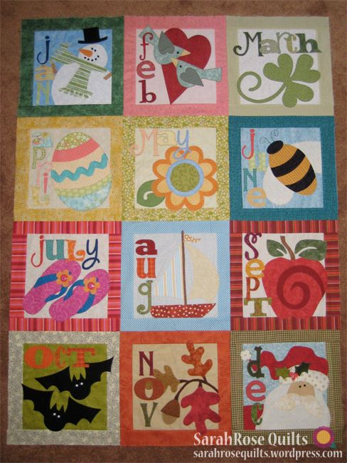 Count On It Bom Quilt Block Of The Month Quilt Top