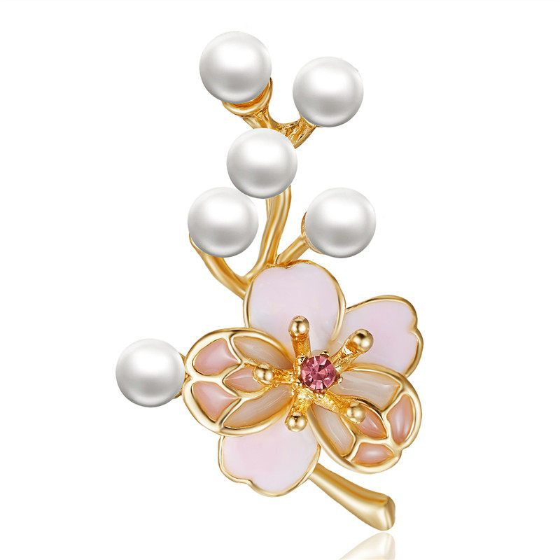 61d35a8d5e5 Cheap Brooches, Buy Directly from China Suppliers:Imitation Pearls Flower  Plant Brooches Leaf Butterfly