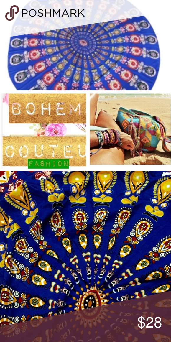 🌿🌻 boho beach tapestry/towel NWOT, no brand, 160cm diameter, great for the beach can be worn as coverup or hung on wall as decor. Very versatile lightweight cotton fabric Free People Swim