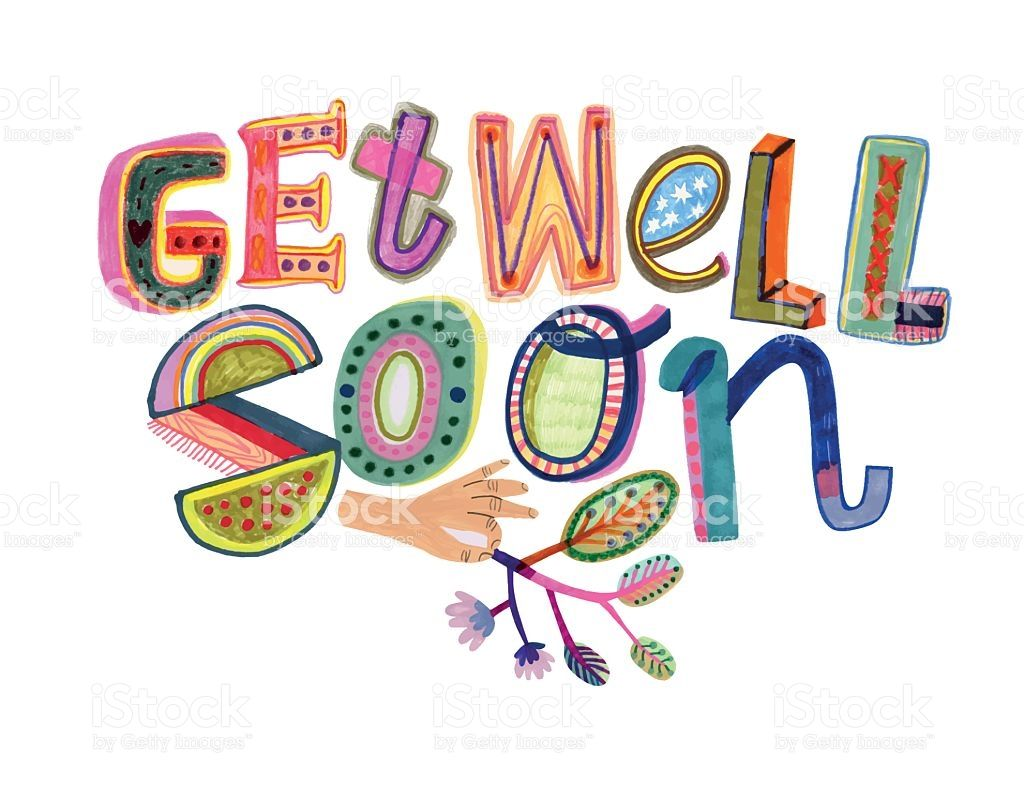 Get well soon message hand drawn letters vector file vector get well soon message royalty free stock vector art kristyandbryce Gallery