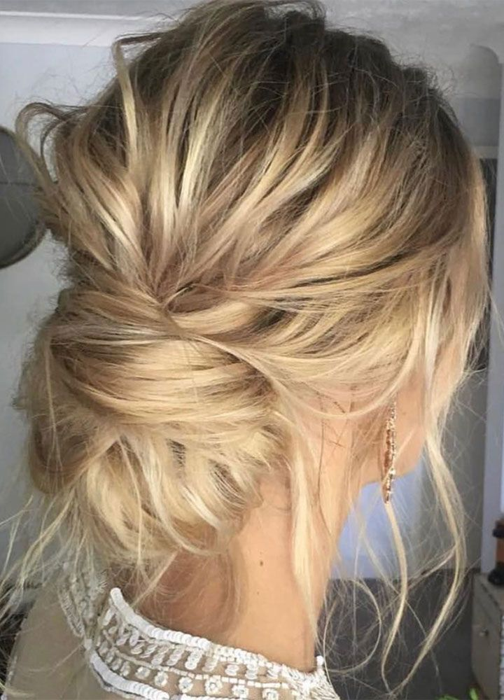 Messy Updo Wedding Hair Inspiration Wedding Hairstyles Pinterest