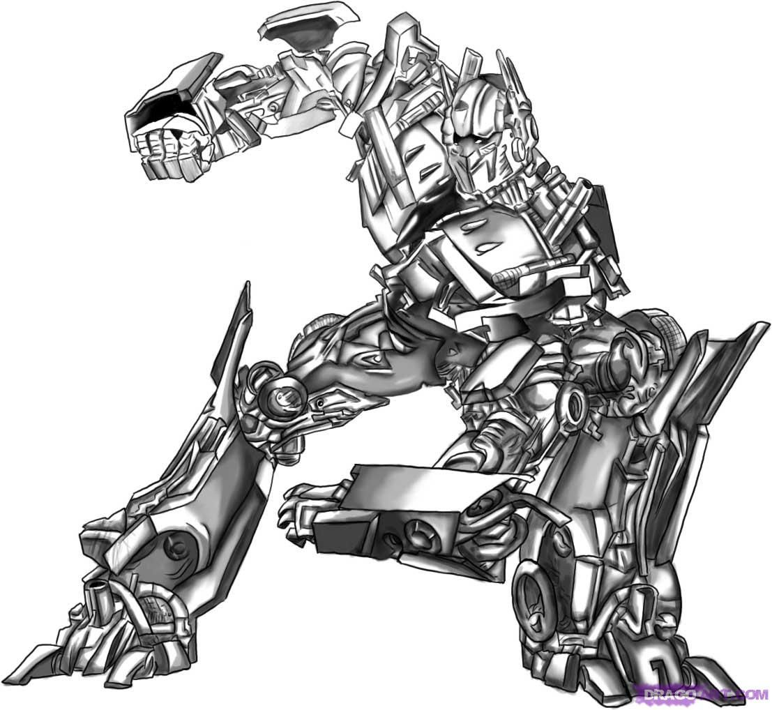 How To Draw Optimus Prime From Transformers Step 9