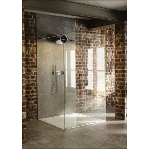 Beautiful The Shower Lab Tantalum Free Standing Fixed Panel 1200mm Wide
