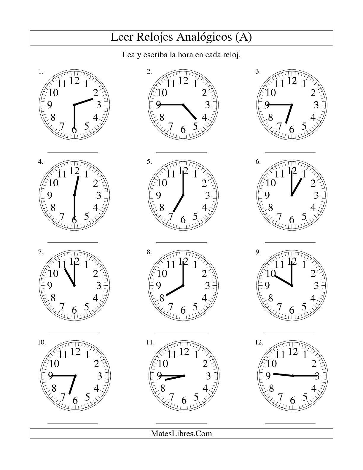 "La Hora - Time Practice in Spanish & ""Mi Dia"" Writing Prompt"
