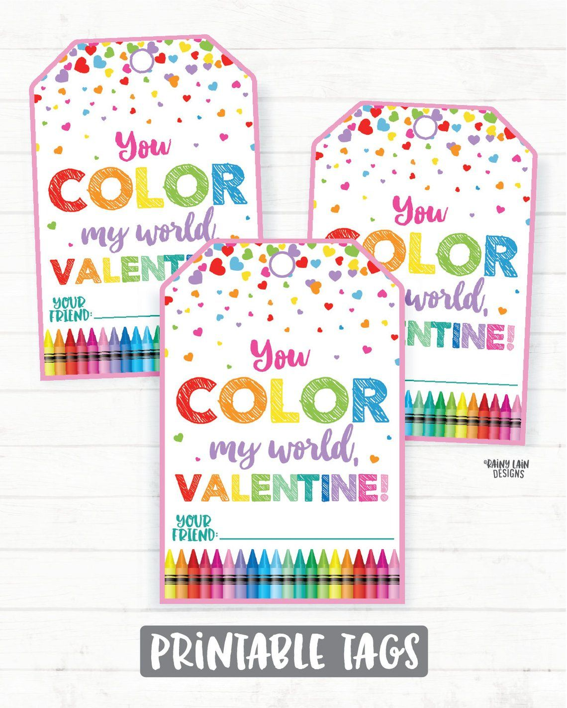 picture relating to You Color My World Printable named By yourself Colour My World-wide Valentine, Coloring Valentine, Crayons