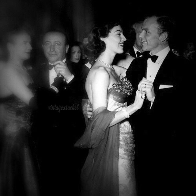 """""""Every single day during our relationship, no matter where in the world I was, I'd get a telegram from Frank saying he loved me and missed me. He was a man who was desperate for companionship and love. Can you imagine he always had mine!"""" - Ava  #avagardner #franksinatra #oldhollywood #silverscreen #classic #vintage"""