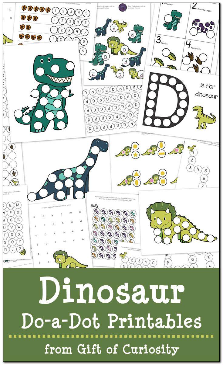 Dinosaurs Do-a-Dot Printables {free | Letra el amor, Actividades ...