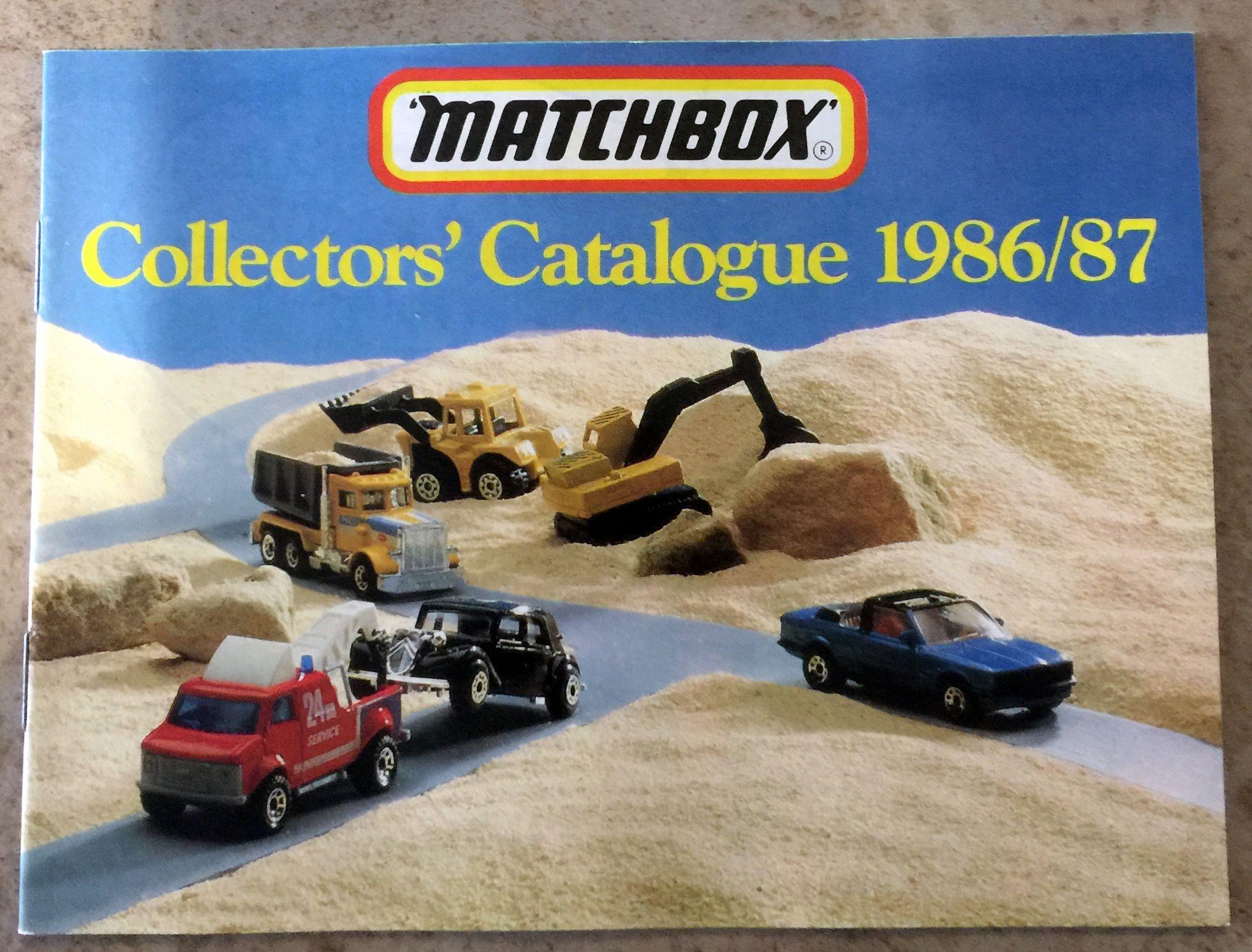 1986/87 Matchbox Collectors' Catalogue front cover