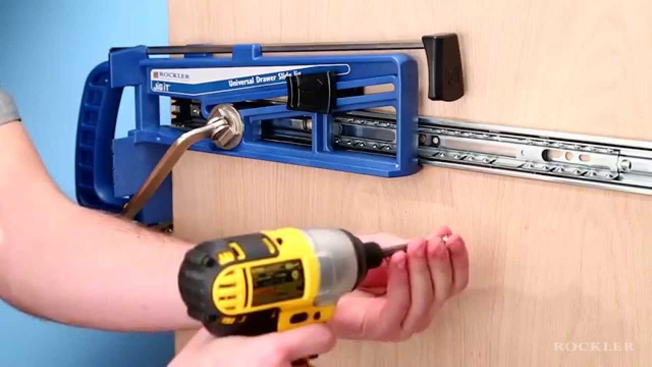 Rockler Universal Drawer Slide Jig Woodworking Saws Woodworking Jet Woodworking Tools