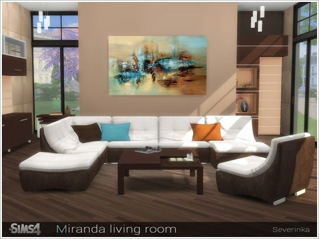Sims 4 CC\'s - The Best: Miranda living room by Severinka | Sims CC ...