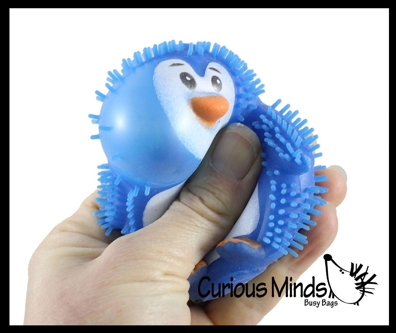 Set of 6!! Animal Squishy Puffer Kids Stress Reliever Squeeze Toy Mini Animals