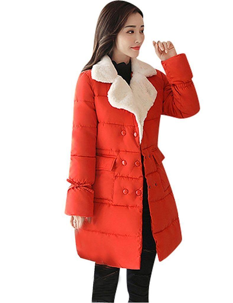 221acbbd890 Menschwear Women s Long Thickened Down Coat Faux Fur Collar Winter Puffer  Jacket